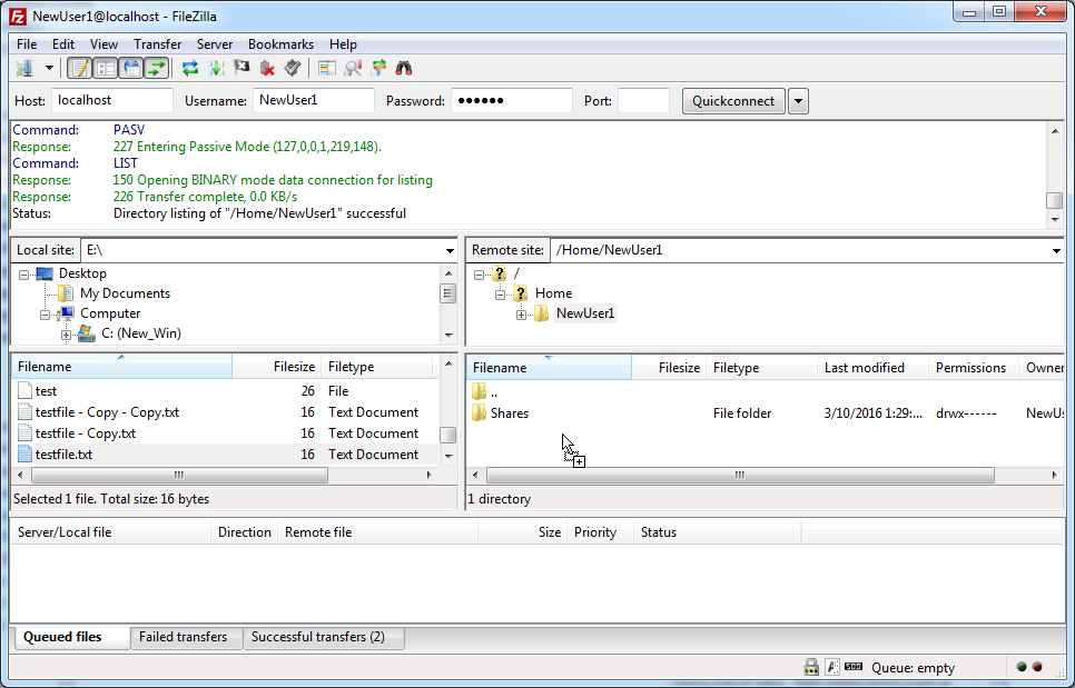 Connecting to CompleteFTP with Filezilla