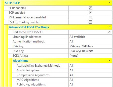 SFTP/SCP/SSH