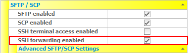 How to use SSH forwarding