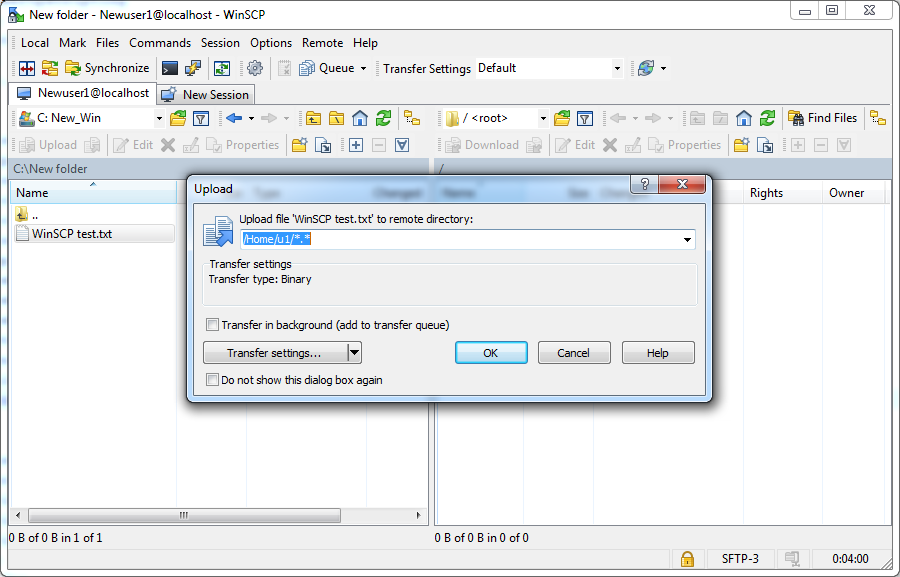 Connecting to CompleteFTP with WinSCP